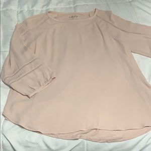 Ann Taylor Loft Large 3/4 Sleeve Blouse Top